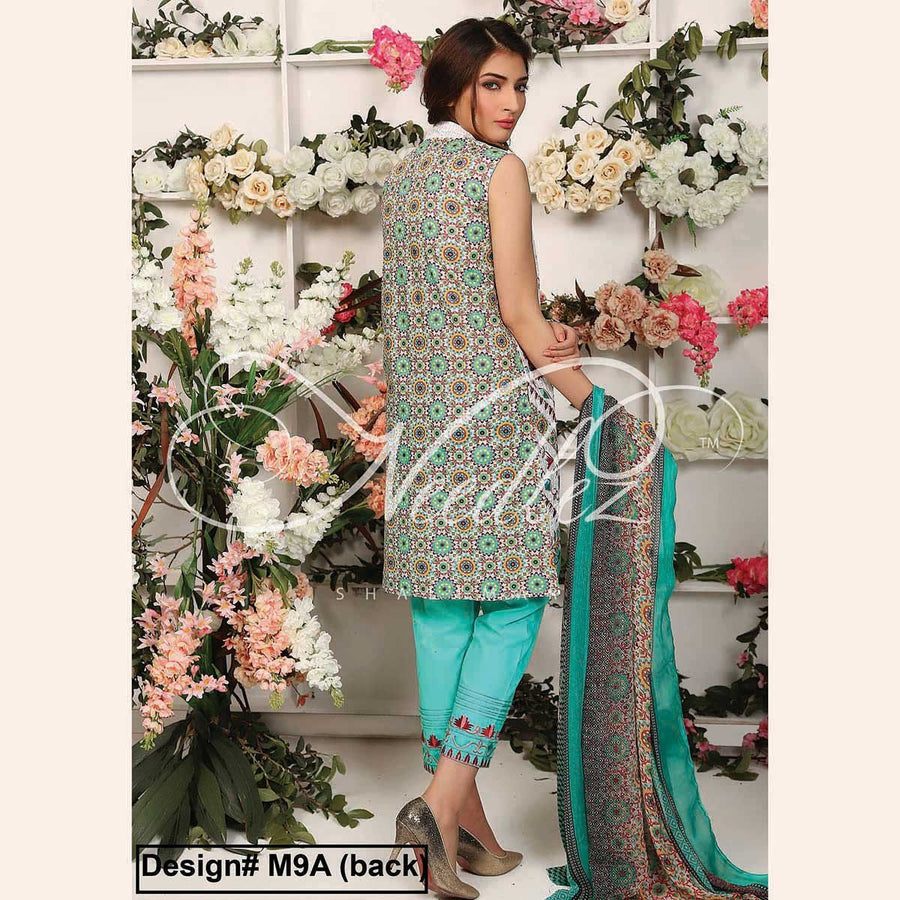 Needlez by Shalimar Unstitched Plotix Misha Lawn Embroidery Suit