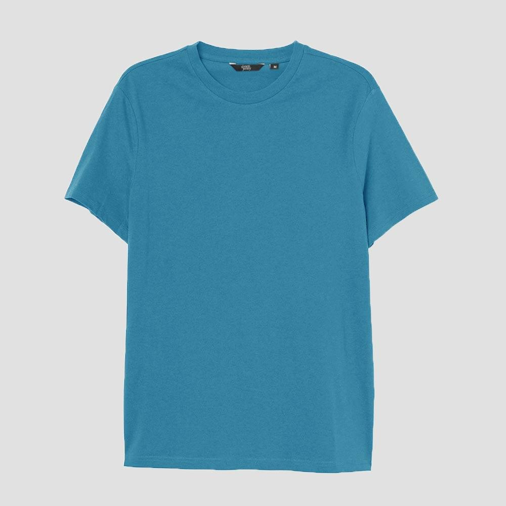 SJ Men's Lavish Crew Neck Tee Shirt Men's Tee Shirt Image Teal XS