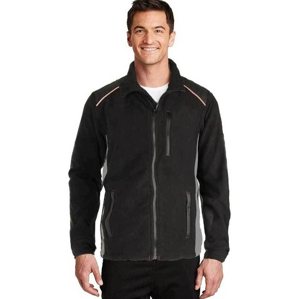 IMG Men's Burlington Polar Fleece Jacket Men's Jacket Image Black XS