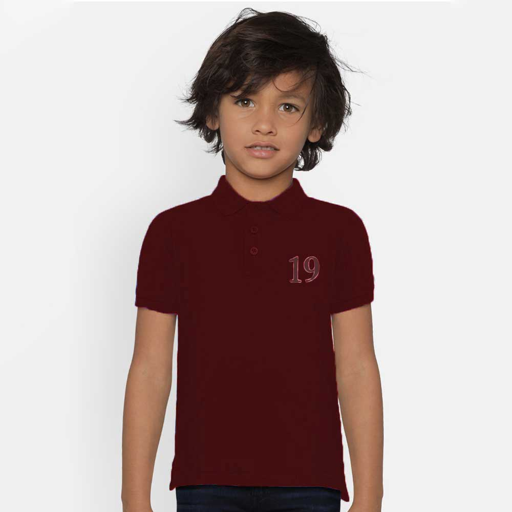 Polo Republica Boy's Mafra Polo Shirt Boy's Polo Shirt Image Burgundy 0 (1 Year)