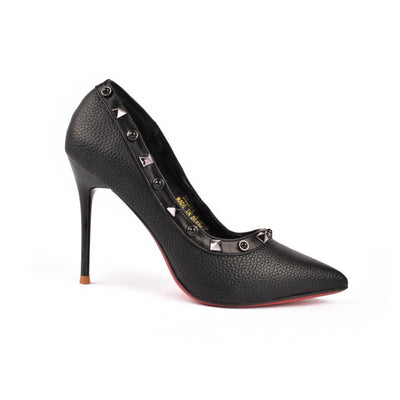 DP Performance Faux Leather Pointy Toe Court Shoes
