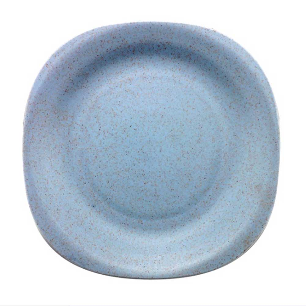WST Non-Toxin Solid Color Plastic Snack Plates Kitchen Accessories Sunshine China Powder Blue