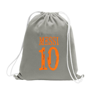 Polo Republica Messi Lovers Drawstring Bag Drawstring Bag Polo Republica Ash Grey Orange