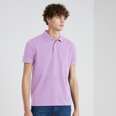 BRTE Men's Classic Polo Shirt Men's Polo Shirt Image Powder Purple XXS