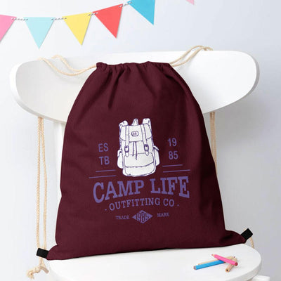Polo Republica Camp Life Drawstring Bag Drawstring Bag Polo Republica Burgundy