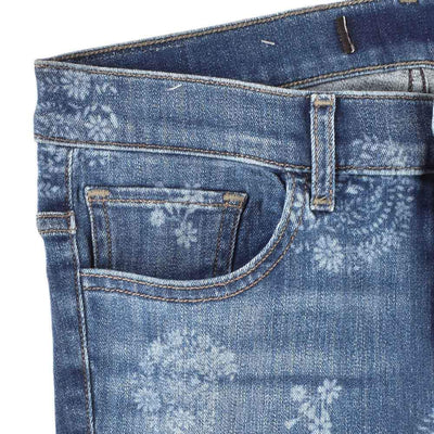 Express Floral Texture Women's Slim Fit Denim Women's Denim SRK