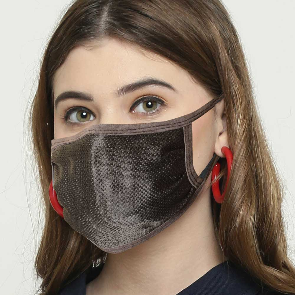 Polo Republica Anti Pollution / Smog Protection Washable Polyester Mesh Mask Face Mask Polo Republica With Polyester Mesh Pack of 6 Graphite