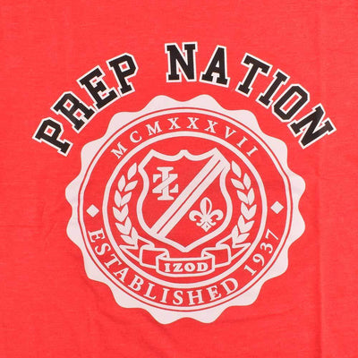 IZOD Prep Nation EST 1937 Men's Crew Neck Tee Shirt Men's Tee Shirt Fiza Red XS
