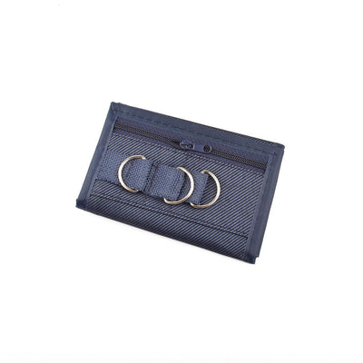 Men's Trendy Trifold Velcro Closure Wallet Men's Accessories CPUQ Navy