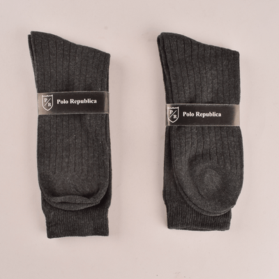 Polo Republica Women's Delineate Pack Of 2 Crew Socks Socks RKI Charcoal EUR 35-38