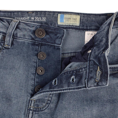 DNM 1982 Komae Distressed Straight Fit Denim