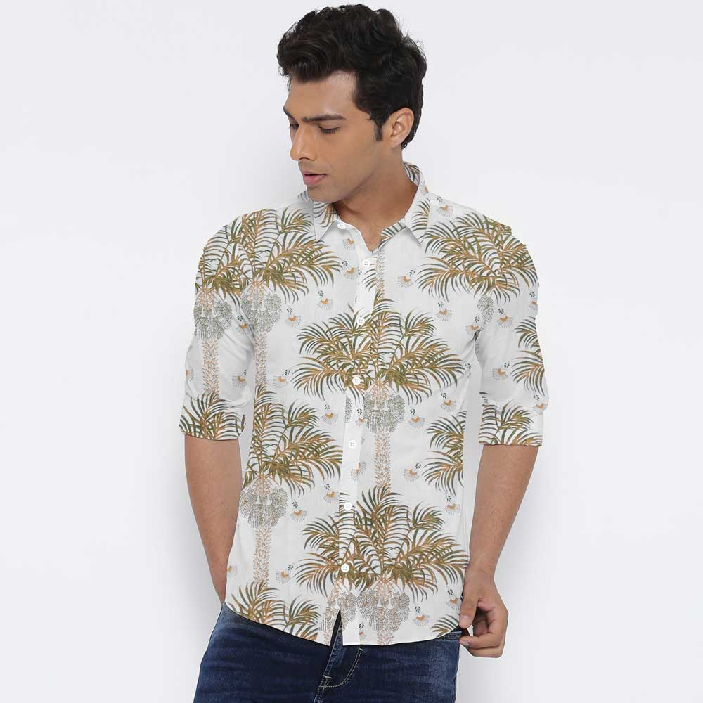 SRT Men's Charophyte Printed Casual Shirt Men's Casual Shirt SRT S