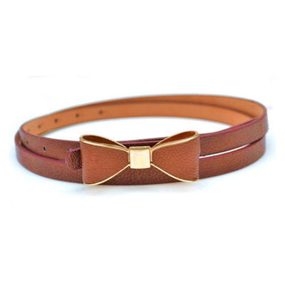 Bow Design Metal Buckle Belt
