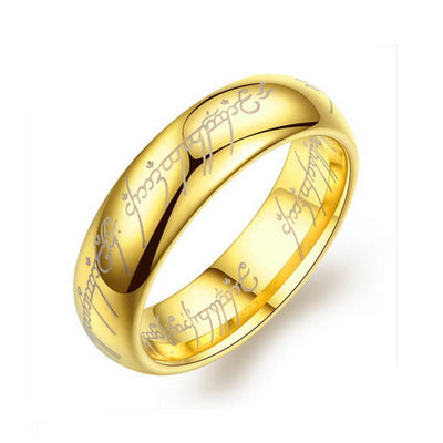 Titanium Steel Men's Ring Men's Accessories Sunshine China Gold 7