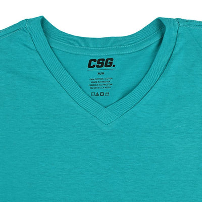CSG Fabriciano V Neck Men's Solid Tee Shirt Men's Tee Shirt First Choice