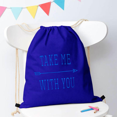 Polo Republica Take Me With You Drawstring Bag Drawstring Bag Polo Republica Royal Blue