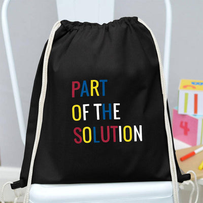 Polo Republica Part Of The Solution Drawstring Bag Drawstring Bag Polo Republica Black