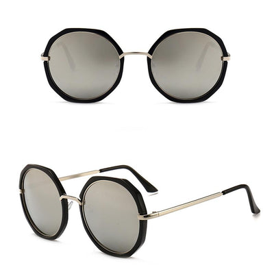 Puglia Frame Round Sunglasses Eyewear Sunshine China Black