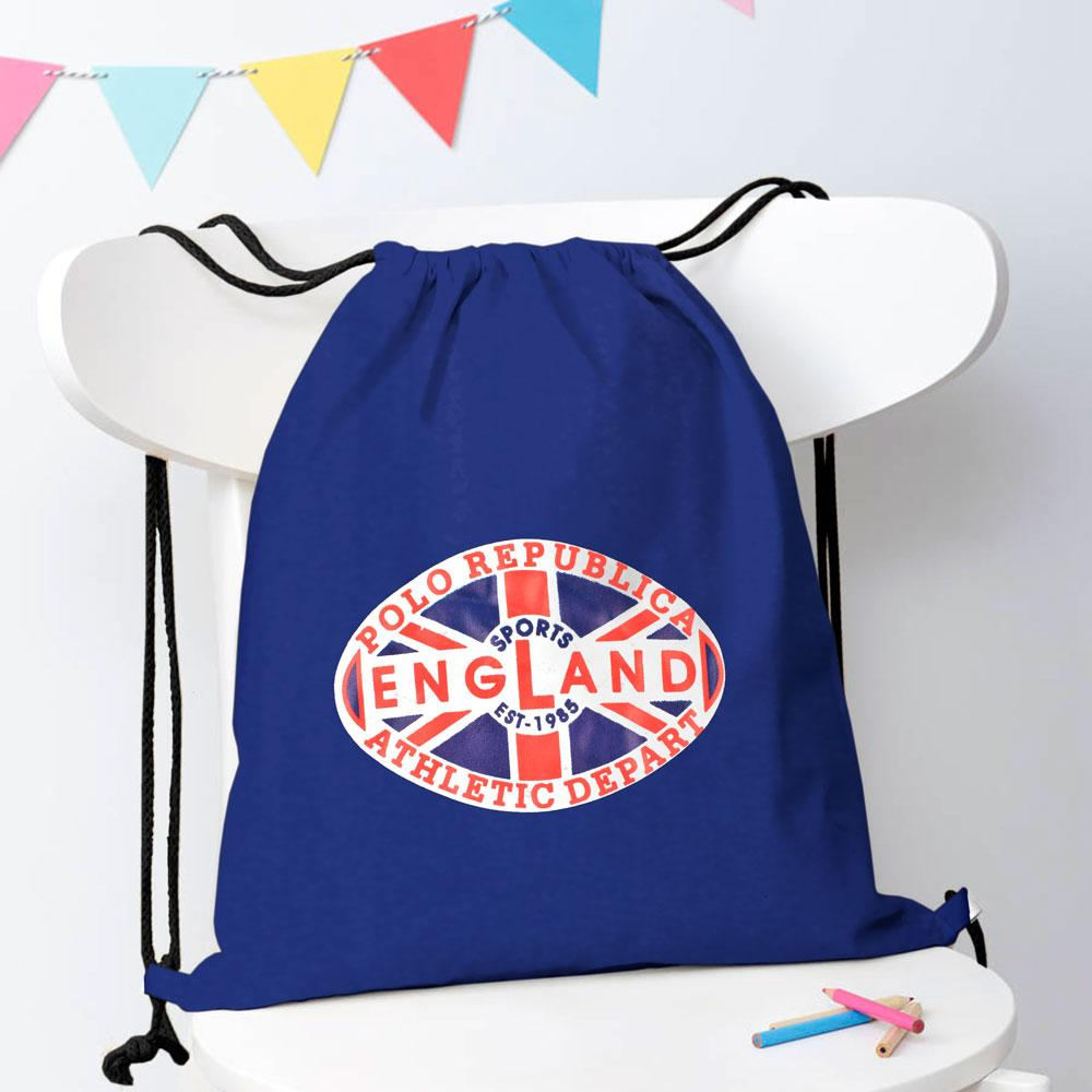 Polo Republica Sports England 1985 Drawstring Bag Drawstring Bag Polo Republica Royal
