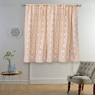 MB Ruijin Printed One Piece Pocket/ Tab Top Curtain Curtain MB Traders Yellow W-50 x L-110 Inches