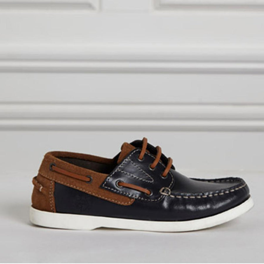 Paul Costelloe Boys Genuine Leather Boat Shoes