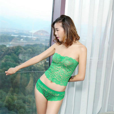 Spandax Net Lace Wrapped Sexy Lingerie Women's lingerie Sunshine China Green XL