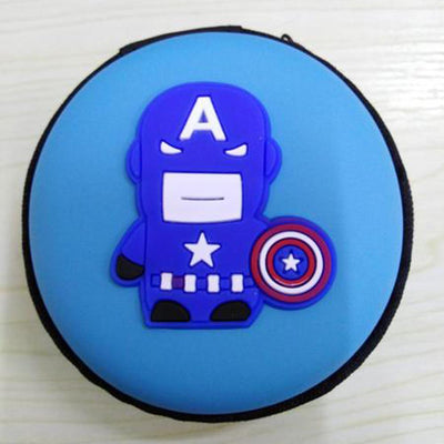 Cartoon Character Headphone Storage Bag Storage Bag Sunshine China Captain Shield Sky Blue