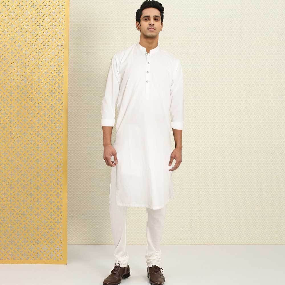 Polo Republica Men's Isfahan Stitched Kurta Men's Kurta RDS White S