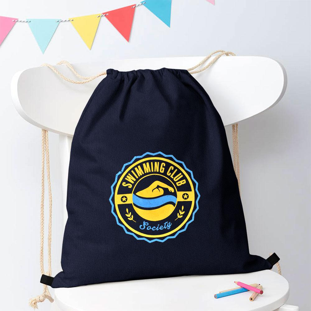Swimming Club Society Drawstring Bag Drawstring Bag Polo Republica Navy Yellow