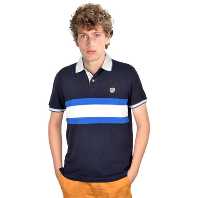 SS EST 1977 Men's Contrast Collar Polo Shirt Men's Polo Shirt First Choice Navy S