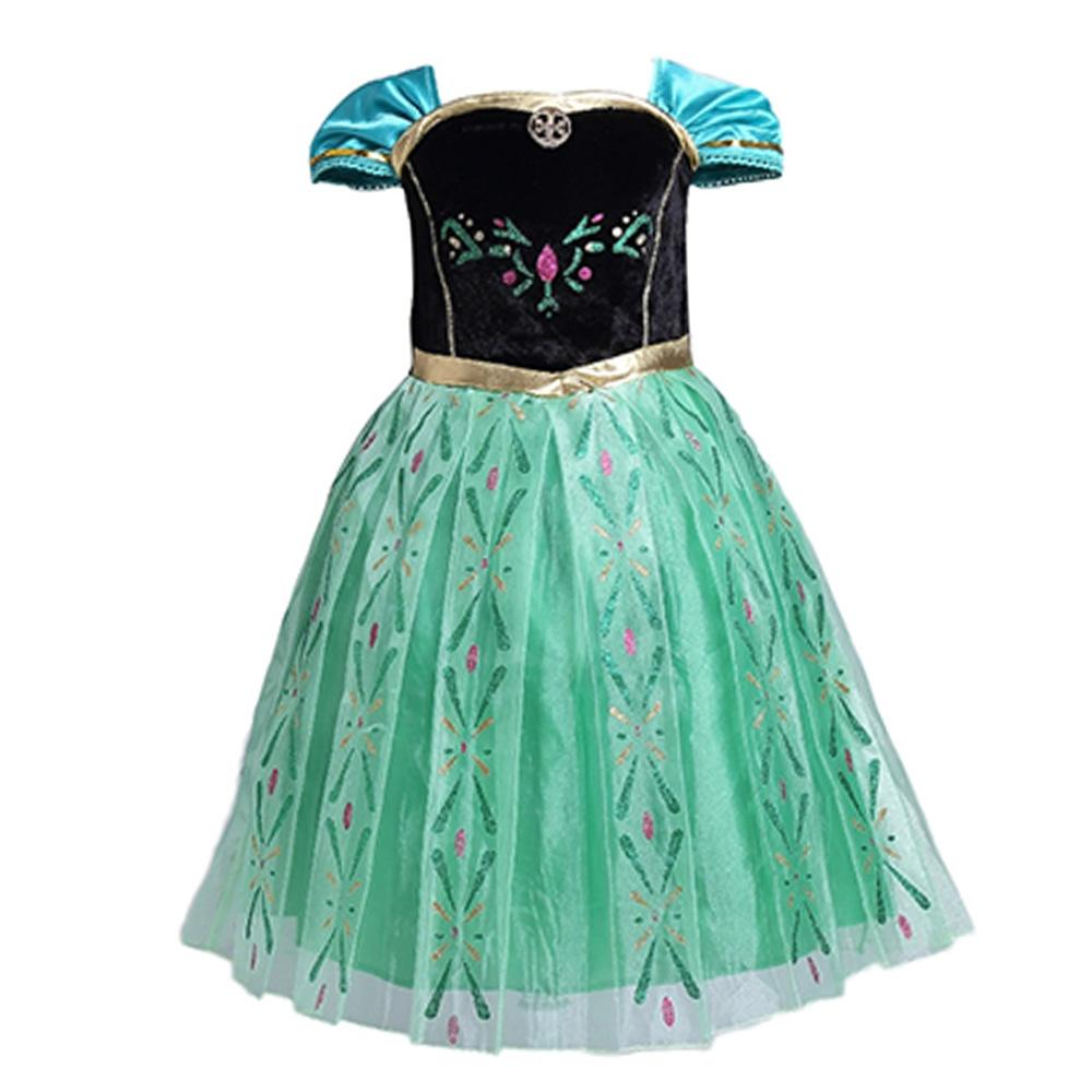 Frozen Princess Anna Sequins Short Sleeve Frock Girl's Frock Sunshine China 2-3 Years