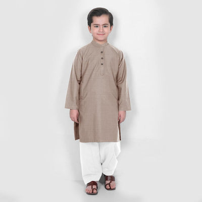 Velvour Boy's Moon Light Stitched Kurta Shalwar Boy's kurta set YTC Mud 1-2 Years
