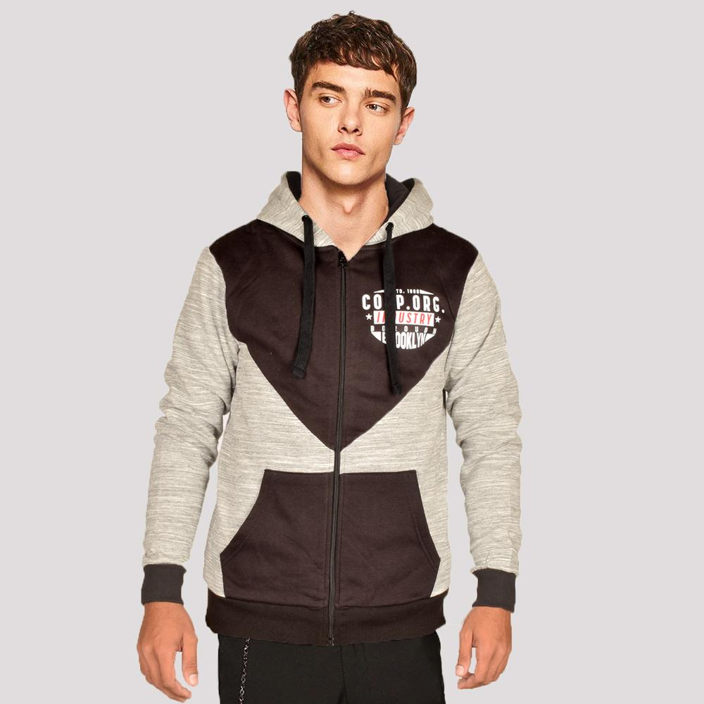 Play Zone Men's Industry Borough Brooklyn Zipper Hoodie Men's Zipper Hoodie NMA S