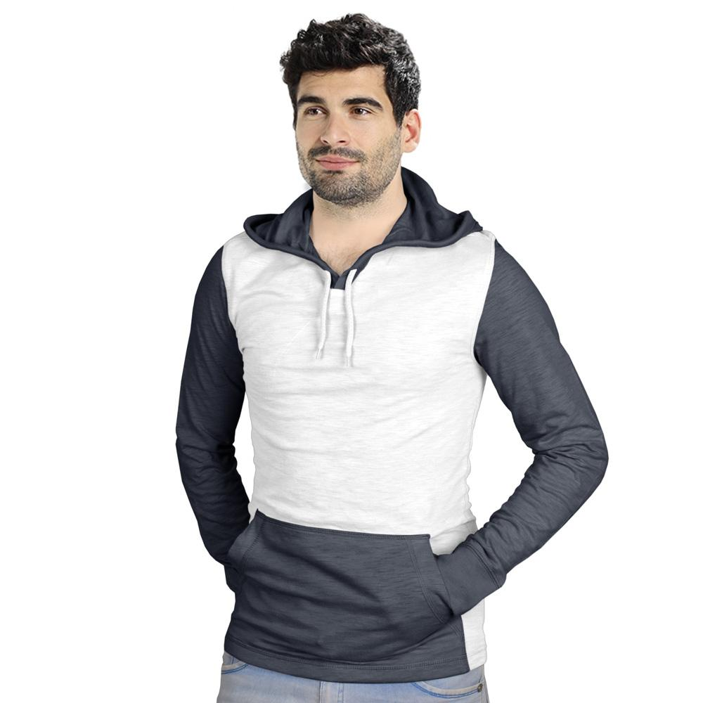 RC Men's Didim Contrast Sleeve Pullover Hoodie Men's Pullover Hoodie First Choice White S