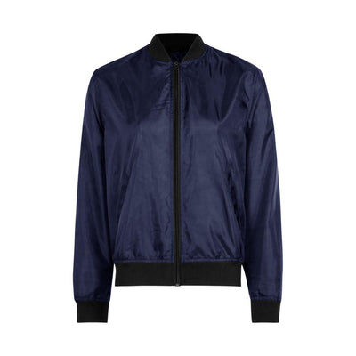 Edremtef Women's Ultra Light Bomber Jacket Women's Jacket AGZ Navy XS