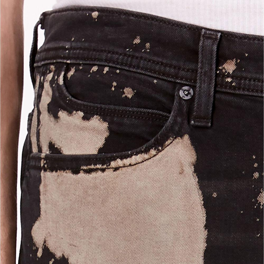 SNJ Black Sonic Wash Slim Straight Fit Stretch Denim Men's Denim SRK
