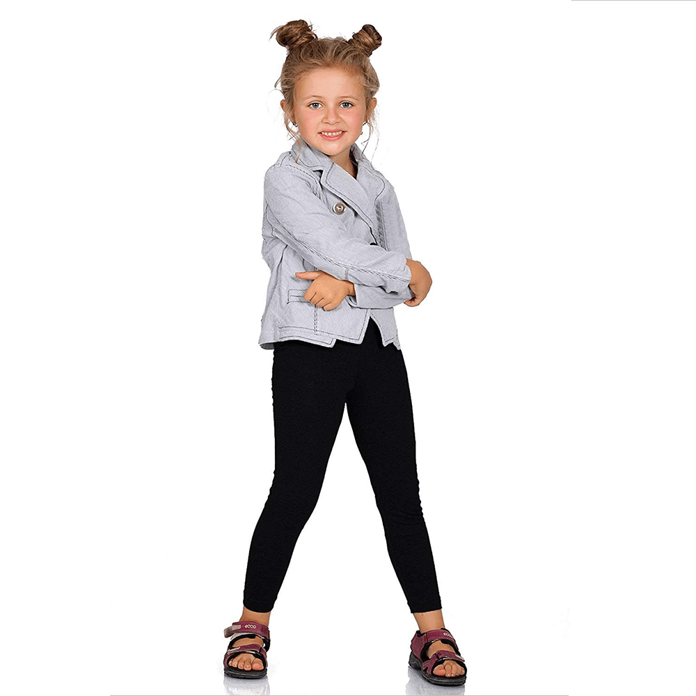 Boomerang Girl's Cozy Embro Leggings Girl's Trousers First Choice Black 2 Years