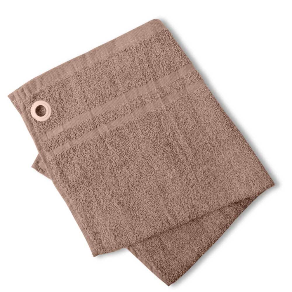 HNC Embellish Kitchen Towel with Eyelet Towel Haroon Cp Mud