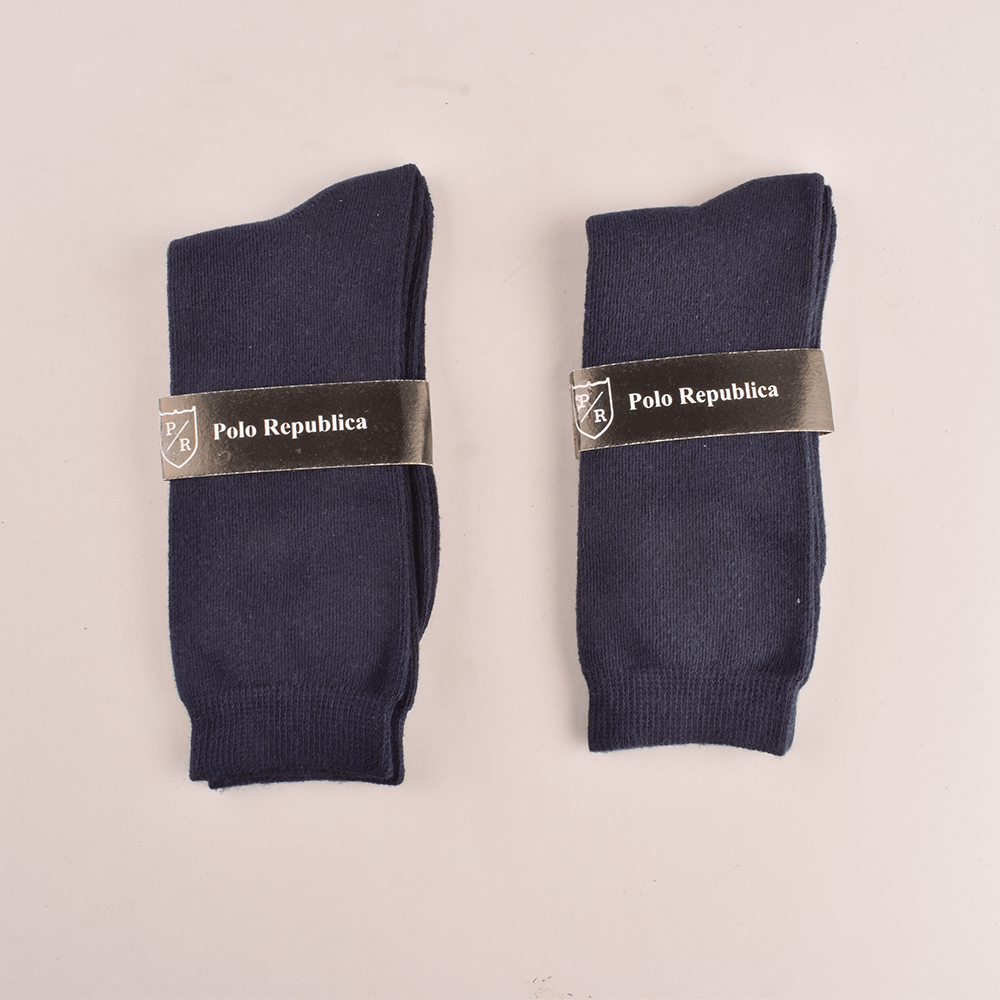 Polo Republica Kid's Enviable Pack of Two Crew Socks Socks RKI Navy EUR 26-28