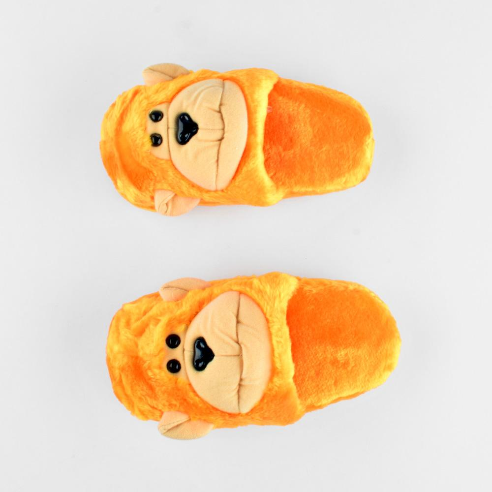 ANF Monkey Shape Plush Slippers Boy's Shoes ANF Yellow EUR 22