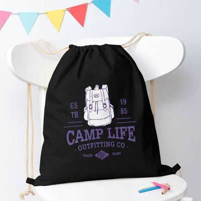 Polo Republica Camp Life Drawstring Bag Drawstring Bag Polo Republica Black