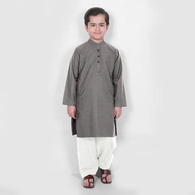 Velvour Boy's Statement Stitched Kurta Shalwar Boy's kurta set YTC Graphite 1-2 Years