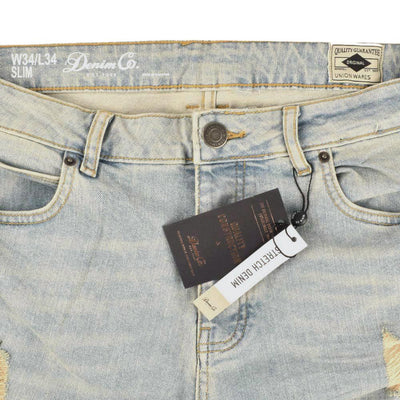 DNM Co Men's Classy Distressed Slim Fit Denim Men's Denim First Choice