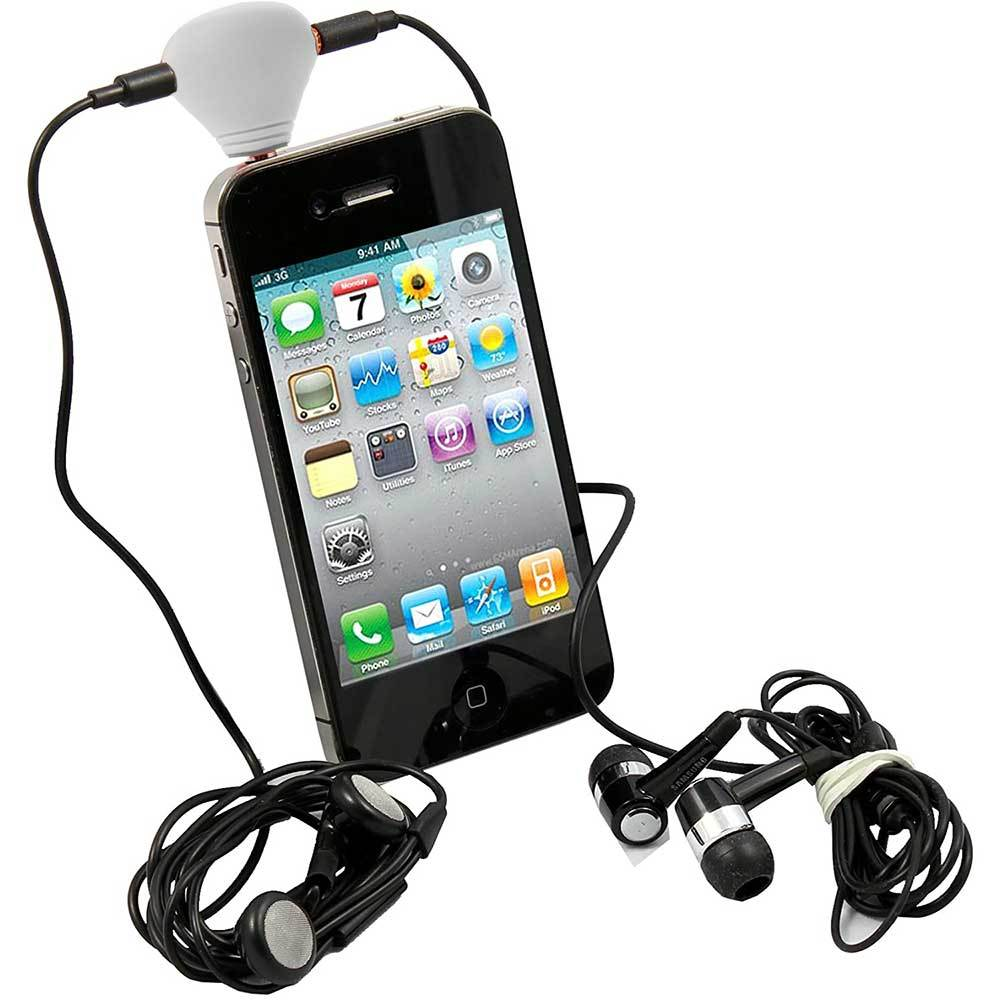 ANF Headphone Splitter with Suction Cup Mobile Accessories ANF