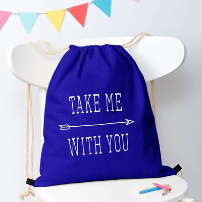 Polo Republica Take Me With You Drawstring Bag Drawstring Bag Polo Republica Royal White
