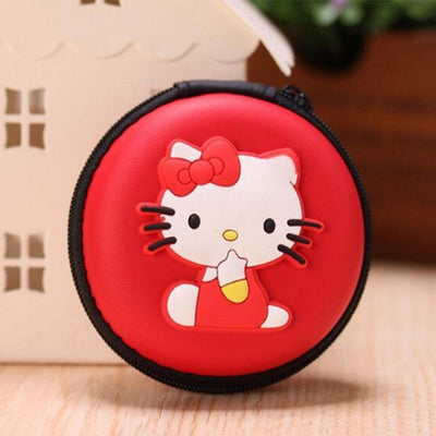 Cartoon Character Headphone Storage Bag Storage Bag Sunshine China Hello Kitty Red