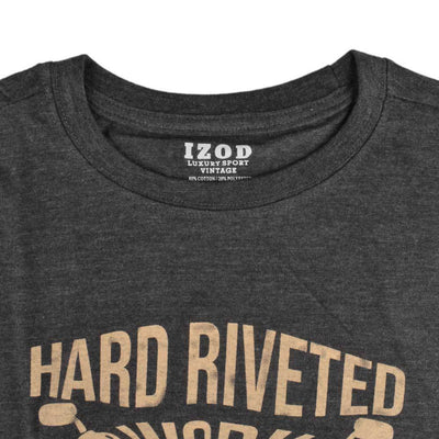 IZOD Hard Riveted EST 1937 Men's Crew Neck Tee Shirt Men's Tee Shirt Fiza