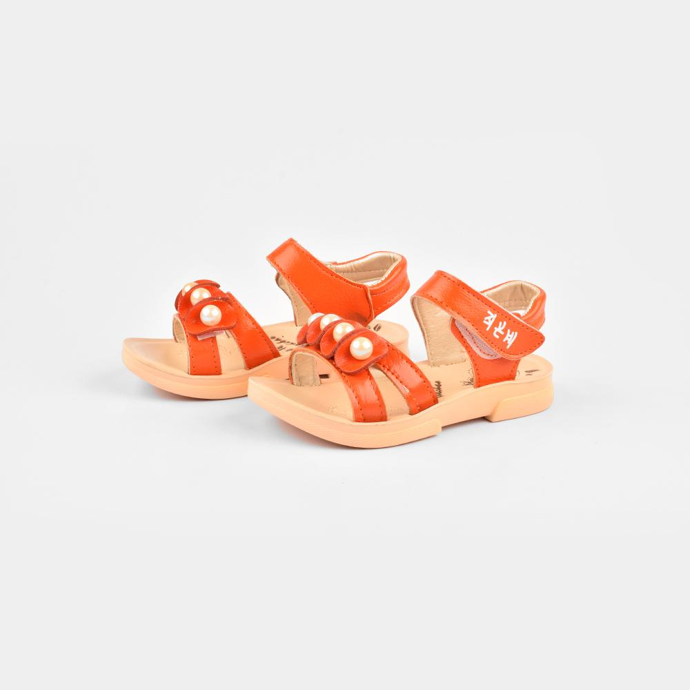 Yudebao Girls Pearl Faux Leather Sandals Girl's Shoes Sunshine China Orange EUR 27