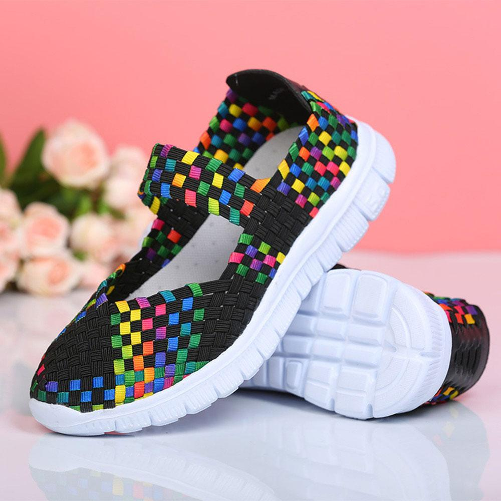Women's Elastic Band Hand Woven Flat Sole Shoes Women's Shoes Sunshine China