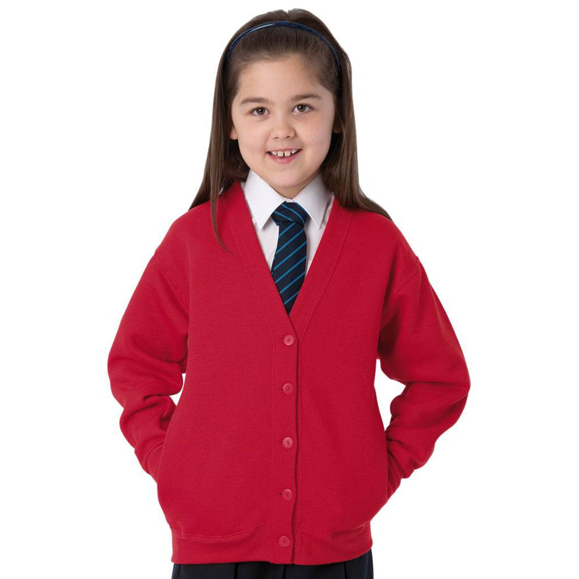 TS Comfy Cardigan Sweat Minor Fault Image Red 3-4 Years